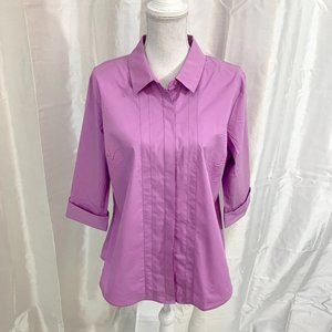 NWT   WORTHINGTON LILAC BUTTON FRONT TOP    XLARGE